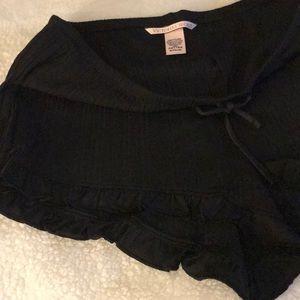 Victoria's Secret Shorts - Victorias Secret Ribbed Ruffle Sleep Shorts